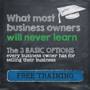 What most business owners will never learn. The 3 Basic Options every business owner has for selling their business